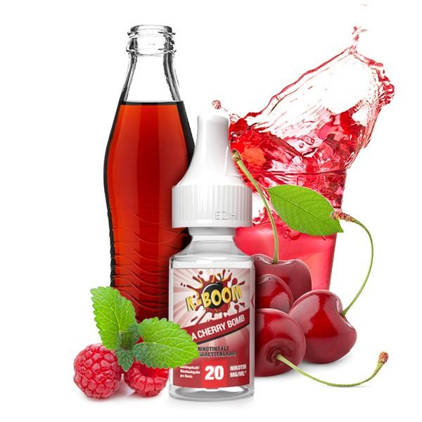 K-BOOM Cherry Cola Bomb Nikotinsalz Liquid 10 ml 20mg
