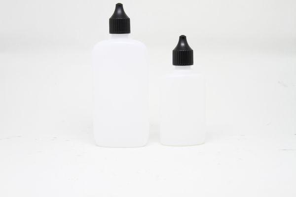 Ovalflasche aus HDPE natur 50ml