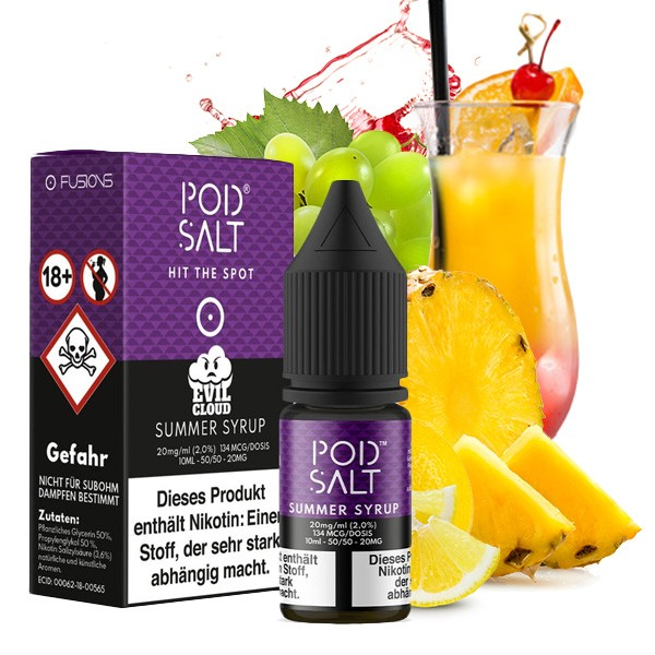 POD SALT FUSION Summer Syrup Nikotinsalz Liquid 10ml 20mg