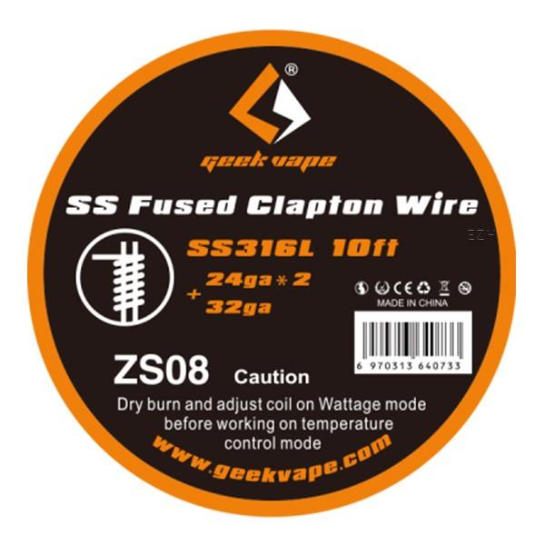GeekVape 3 Meter SS316L Fused Clapton (0.5mm*2(=)+0.2mm)