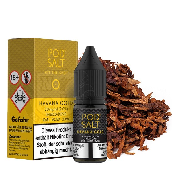 POD SALT Havanna Gold Nikotinsalz Liquid 10ml 20mg