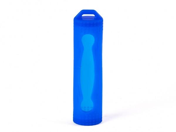 Silikon Schutzhülle für 18650 Akkus blau