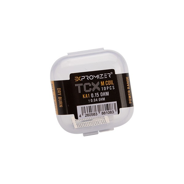 10x Exvape Expromizer TCX KA Sieb 0.15 Ohm 0.15 Ohm