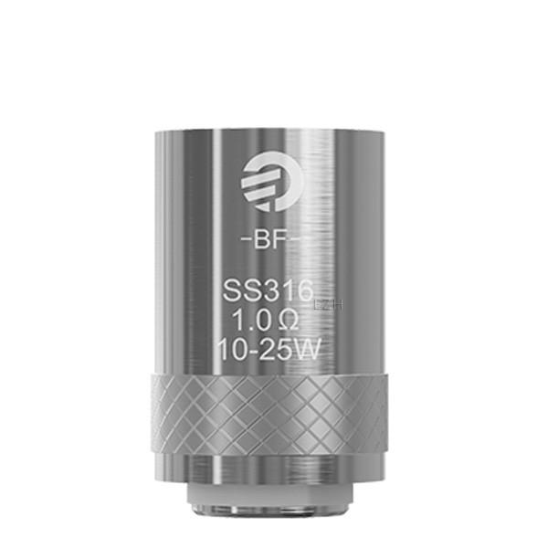 5x JOYETECH BF SS316 Coil Verdampferkopf 1,0 Ohm
