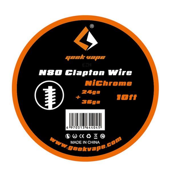 GeekVape 3 Meter N80 Clapton Wire 24/36GA (0.50/0.13 mm)