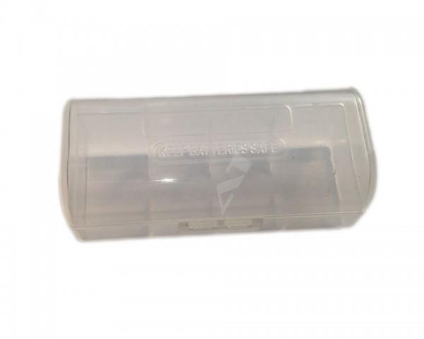 Aufbewahrungsbox für 1x 26650 transparent